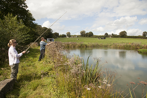Shepherds hut coarse fishing